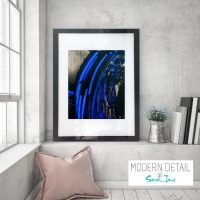 Glass Print with Modern Abstract Art from Modern Detail By Sarah Jane - Faceless VI