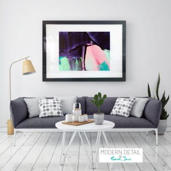 Glass Print with Modern Abstract Art in soft colour tones from Modern Detail By Sarah Jane - Colour me Happy X
