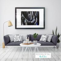 Glass Print with Modern Art from Modern Detail By Sarah Jane - Anonymous IX