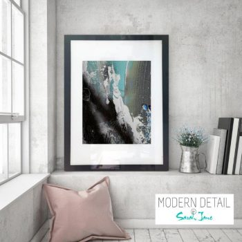 Glass Print with Modern Art from Modern Detail By Sarah Jane - Anonymous XIIIa