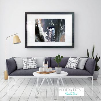 Glass Print with Modern Art from Modern Detail By Sarah Jane - Anonymous XIIa