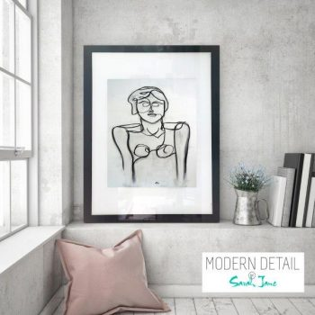 Glass Print with Modern Art from Modern Detail By Sarah Jane - Linear II
