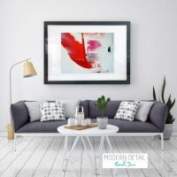 Glass Print with Modern Art from Modern Detail By Sarah Jane - On the Move XX