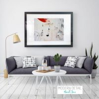 Glass Print with Modern Art from Modern Detail By Sarah Jane - On the Move XXI