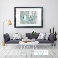 Glass Print with Modern Art in Soft Tones from Modern Detail By Sarah Jane - Boardwalk IIIe