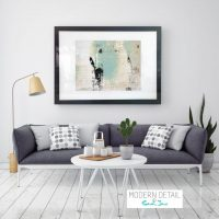 Glass Print with Modern Art in Soft Tones from Modern Detail By Sarah Jane - Boardwalk IIa