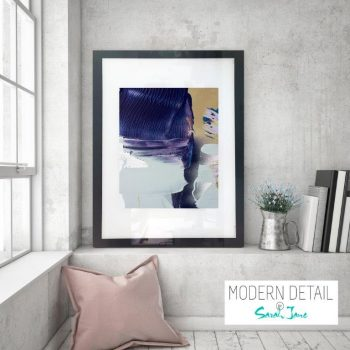 Glass Print with Modern Art in neutral colour tones from Modern Detail By Sarah Jane - Colour me Happy XIIIe