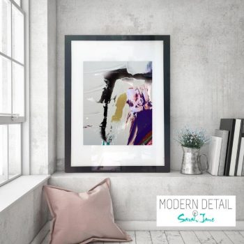 Glass Print with Modern Art in neutral colours from Modern Detail By Sarah Jane - Colour me Happy XVId