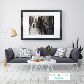Glass Print with Modern Artwork from Modern Detail By Sarah Jane - Anonymous XIVe