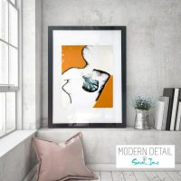 Glass Print with Trendy Artwork from Modern Detail By Sarah Jane - Silhouette I