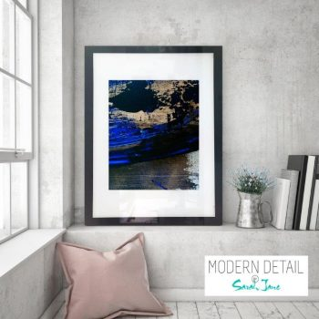 Glass Print with Trendy Modern Art from Modern Detail By Sarah Jane - Faceless X