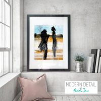 Glass Print with bright colour tones from Modern Detail By Sarah Jane - Boardwalk V