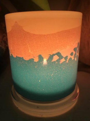 Illuminated Candle from Modern Detail By Sarah Jane - Being Watched VIIIa Back View