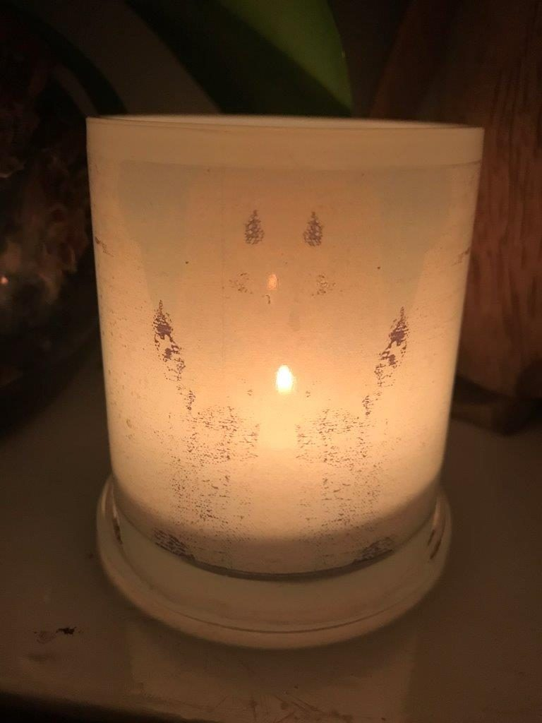 Illuminated Candle from Modern Detail By Sarah Jane - Boardwalk IIa Back View