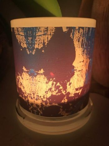 Illuminated Candle from Modern Detail By Sarah Jane - Faceless X Back View