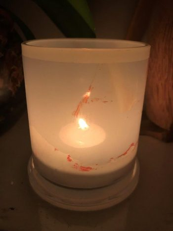 Illuminated Candle from Modern Detail By Sarah Jane - Freedom XIVa Back View