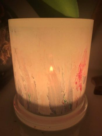 Illuminated Candle from Modern Detail By Sarah Jane - Freedom XX Back View