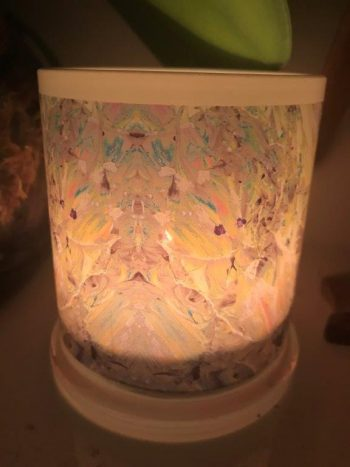 Illuminated Candle from Modern Detail By Sarah Jane - New Life IVb Back View