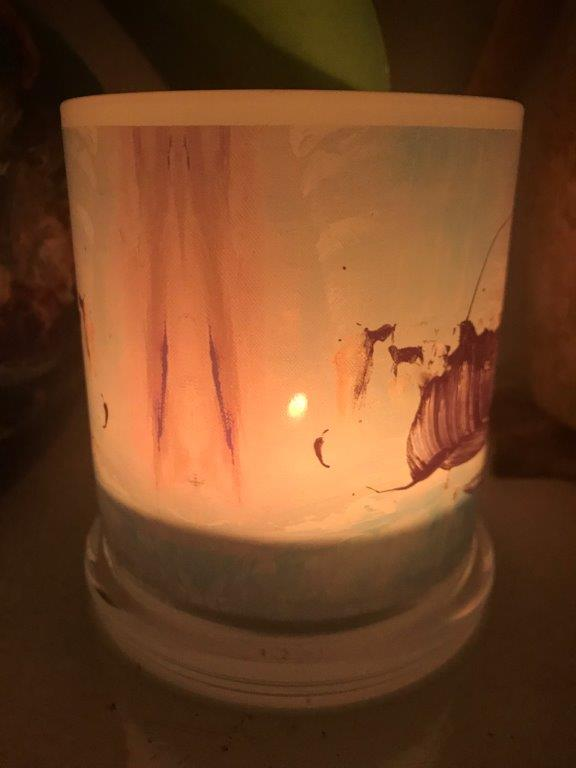 Illuminated Candle from Modern Detail By Sarah Jane - On the Move VIc Back View