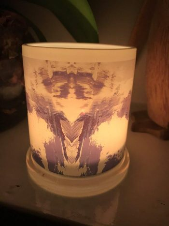 Illuminated Candle from Modern Detail By Sarah Jane - One of Us XIIId Back View