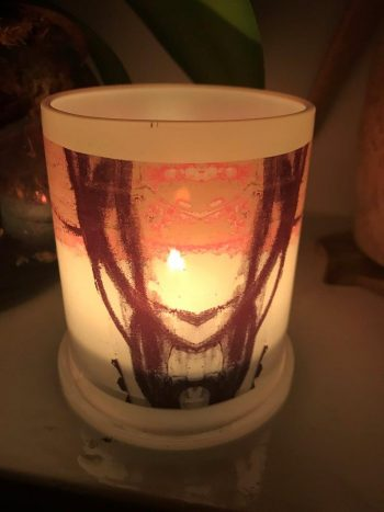 Illuminated Candle from Modern Detail By Sarah Jane - Regal IIIe Back View