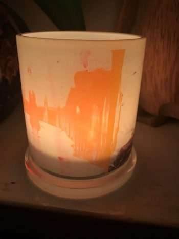 Illuminated Candle from Modern Detail By Sarah Jane - United we Stand V Back View