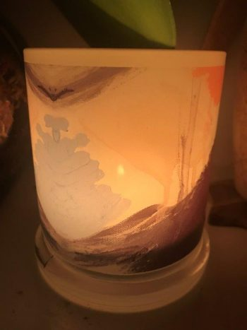 Illuminated Candle from Modern Detail By Sarah Jane - Warrior II Back View