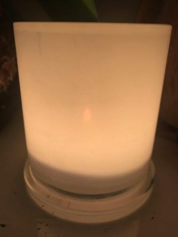 Illuminated Candle from Modern Detail By Sarah Jane - Warrior XVI Back View