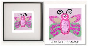 Kids Print By Sarah Jane - Butterfly Ie