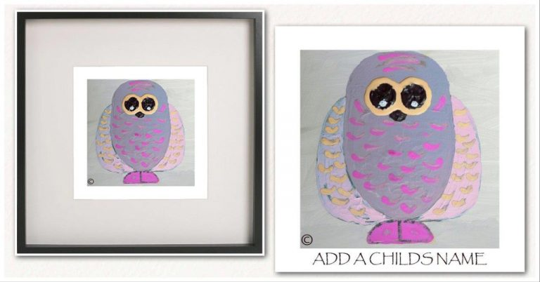 Kids Print By Sarah Jane - Owlie Ia