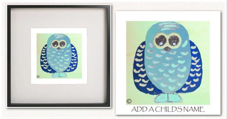 Kids Print By Sarah Jane - Owlie If