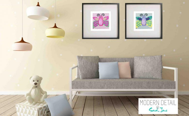 Kids Prints By Sarah Jane - Butterfly Ie and Butterfly Ig