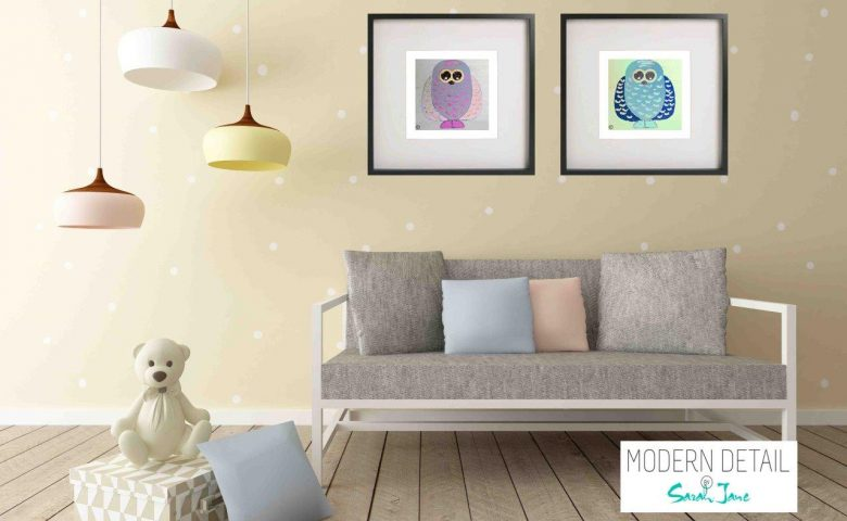 Kids Prints By Sarah Jane - Owlie Ia and Owlie If