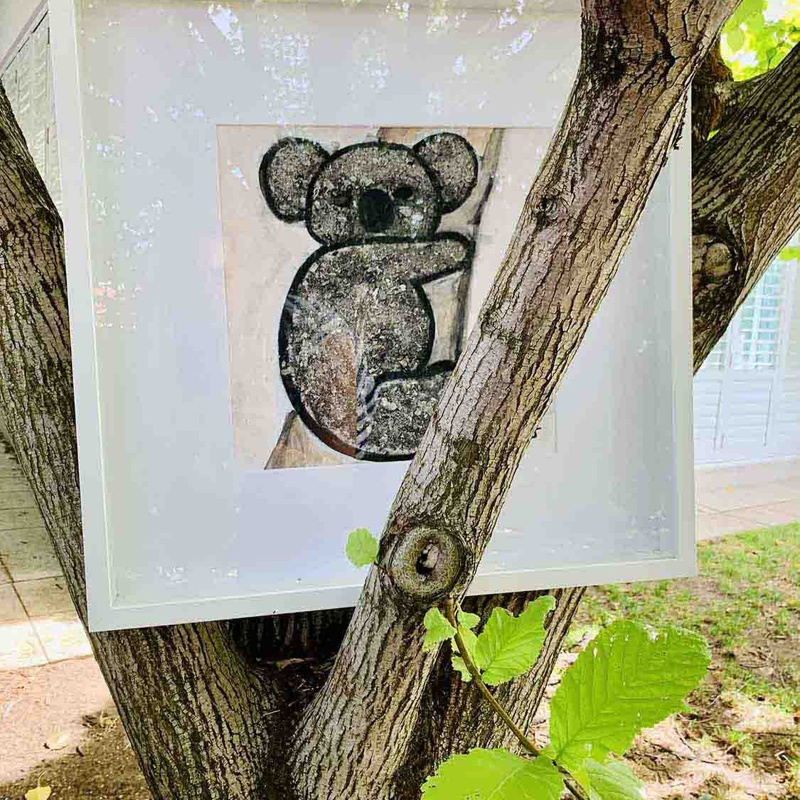 Koala In A Tree - Painting by Sarah Jane Adelaide Artist - Koala I