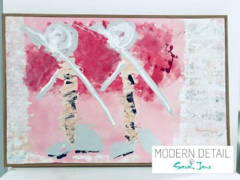 Large Contemporary Painting named Wanderers from Modern Detail By Sarah Jane