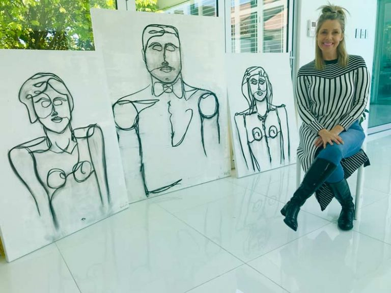 Linear Series Artwork By Australian Artist Sarah Jane