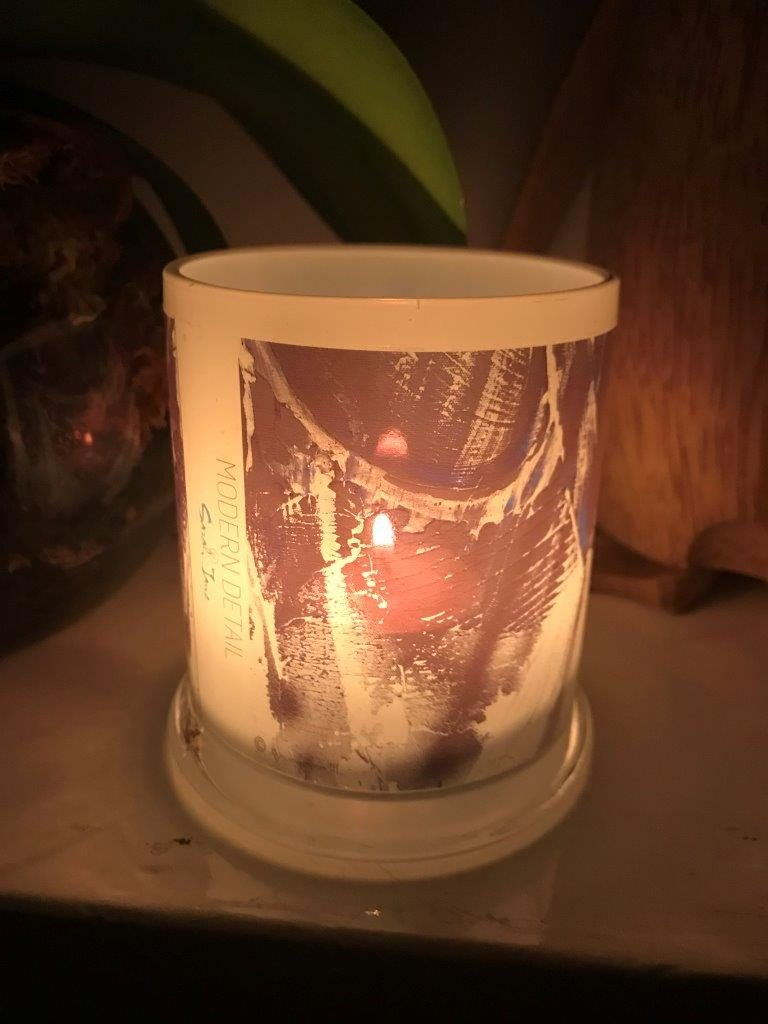 Lit Candle from Modern Detail By Sarah Jane - Anonymous III Front View