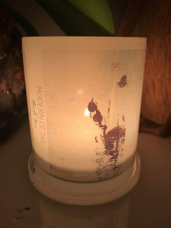 Lit Candle from Modern Detail By Sarah Jane - Boardwalk IIa Front View