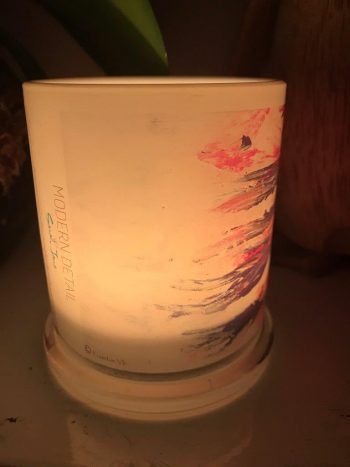 Lit Candle from Modern Detail By Sarah Jane - Freedom VIc Front View