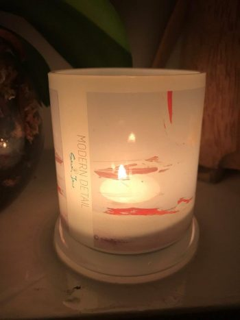 Lit Candle from Modern Detail By Sarah Jane - Freedom XIVa Front View