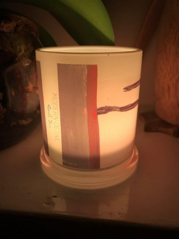 Lit Candle from Modern Detail By Sarah Jane - Hope Va Front View