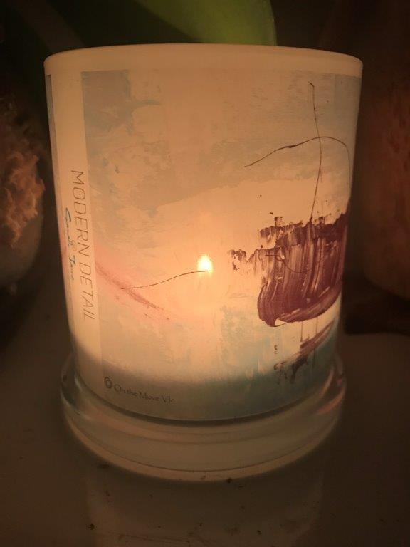 Lit Candle from Modern Detail By Sarah Jane - On the Move VIc Front View