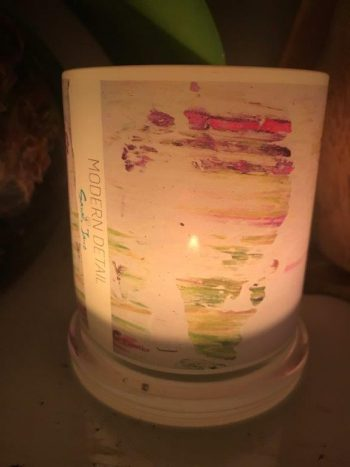 Lit Candle from Modern Detail By Sarah Jane - Pastel Le Front View