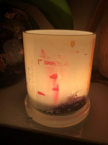 Lit Candle from Modern Detail By Sarah Jane - United we Stand V Front View