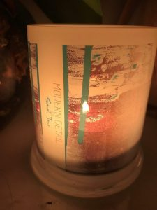 Lit Candle from Modern Detail By Sarah Jane - United we Stand VIII Front View