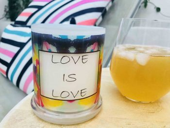 Love Is Love Candle By Sarah Jane to celebrate all that is The Mardi Gras