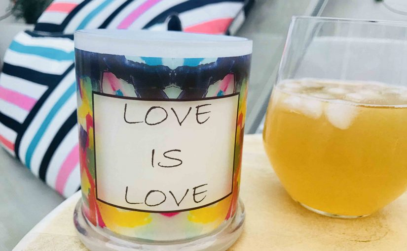 Love Is Love Candle By Sarah Jane For LGBTQ Equality