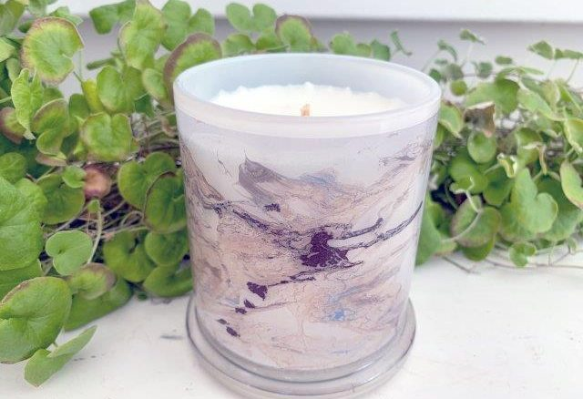 Luxury CAndles By Sarah Jane with beach art naturer VI
