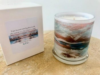 Luxury Candles Australia By Sarah Jane Australian Artist - Tenderness VII artwork with Natural Soy Wax