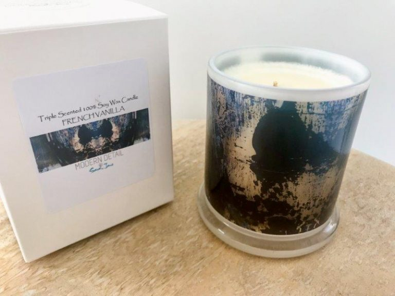 Luxury Candles Australia By Sarah Jane Contemporary Artist - Faceless Xg artwork with Natural Soy Wax